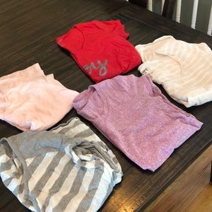 Tops - lot of 5 maternity cotton t shirts large